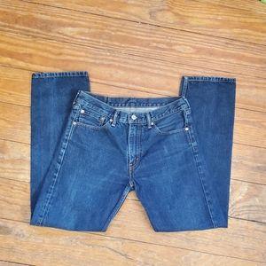 EUC Levi's 505 sz 33 x 32 men's distressed jeans